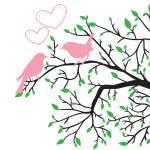 Весна Любовь птиц — Cтоковый вектор