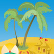 Summer beach — Stock Vector #11698341
