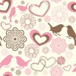 Royalty-Free Stock Vectorielle: Texture of love birds
