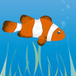 Clownfish under water — Stock Vector