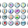 Royalty-Free Stock Imagen vectorial: Set of vacation web icons