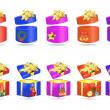 barevné vánoční dárky — Stock vektor