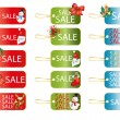 Christmas tags - Stock Vector