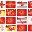 Set of valentine gift labels - Stock Vector