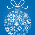 X-mas ball made of snowflakes — Stock Vector