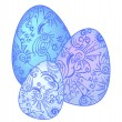 Three ornate Eastern eggs  — Imagen vectorial