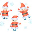 Santa Clauses — Stock Vector