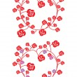 Two hearts made of flowers - Stockvectorbeeld