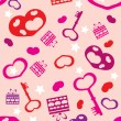 Royalty-Free Stock Vektorov obrzek: Pattern of packing paper for Valentine&#039;s Day