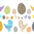 Royalty-Free Stock Vector Image: Easter eggs and chicken