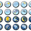Several weather web icons — Stock Vector