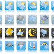 Collection of weather icons — Stock Vector