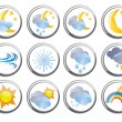 Several weather buttons - Stock Vector