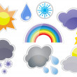 Weather phenomenons — Stock Vector