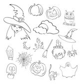 Vector illustration of halloween elements — Stock Vector
