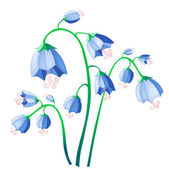 Vector illustration of blue bells isolate on background — Stock Vector