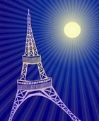 Eiffel tower — Stock Vector