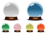 Kolekce magické koule — Stock vektor