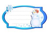 Frame with snowman — Vector de stock