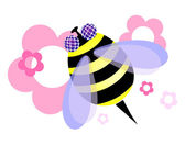 Beautiful honeybee — Stock Vector