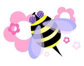 Beautiful honeybee — Stock Vector