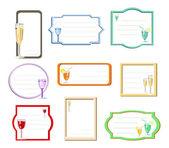 Negen frames met cocktails — Stockvector