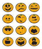 Halloween pumpkin smiles — Stock Vector