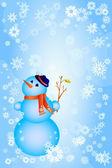 雪人 — 图库矢量图片