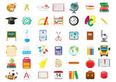 School education icons — Stock Vector