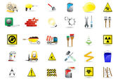 Set of under construction icons — Stock Vector