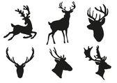 Deers silhouette — Stock Vector