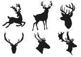 鹿剪影 — 图库矢量图片