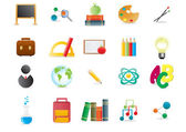 Collection of scholastic icons — Stock Vector