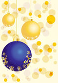 Golden and blue balls — Stock Vector