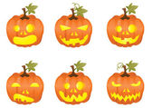 Halloween pumpkin icons — Stock Vector