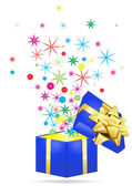 Holiday giftbox — Stock Vector