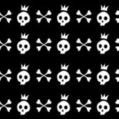 Skull and crossbones — Vecteur