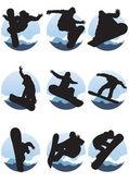 Snowboarders — Stock Vector