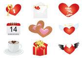 Alla hjärtans kuvert — Stockvektor