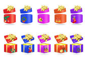 Christmas colorful presents — Stock Vector