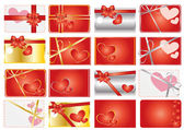 Set of valentine gift labels — Stock Vector