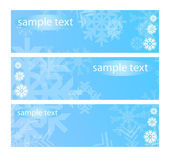 Vector illustration of three snowy banners — Stock Vector
