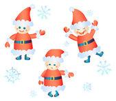 Santa Clauses — Stock Vector