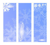 Three vertical snowy banners — Stock Vector
