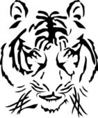 Bengal tiger head — Stock Vector