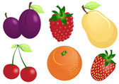 Fruits and berries — Vector de stock
