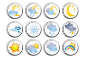 Several weather buttons — Stock Vector
