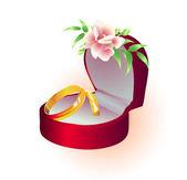 Wedding golden rings — Stock Vector