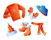 Winter holiday clothes — Stock Vector