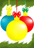 Three x-mas balls — Vector de stock